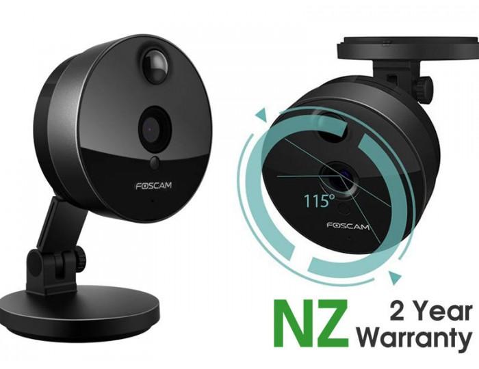 ip camera foscam c1 hd 720p wifi plug n play black on promotion