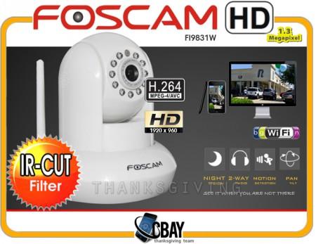 FI9831W HD 1.3MP WiFi P/T  White