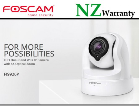Foscam IP Camera FI9926P 1080P PTZ 2.4/5Ghz WiFi  4x Optical Zoom