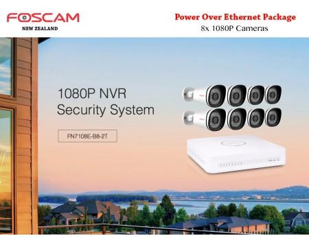 Foscam Security Camera Package 8CH NVR + 8 Cameras 1080P