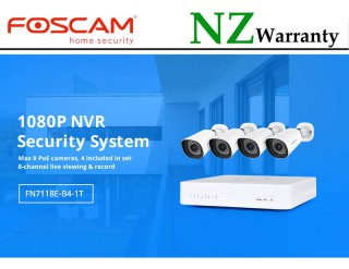 Foscam Security Camera Package 8CH NVR + 4 Cameras 1080P FN7118E