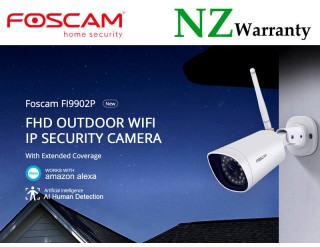 FOSCAM IP CAMERA FI9902P IP66 WiFi 1080P 2MP HUMAN DETECTION