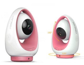 FOSCAM FosBaby P1 HD 720P Baby Monitor Pink