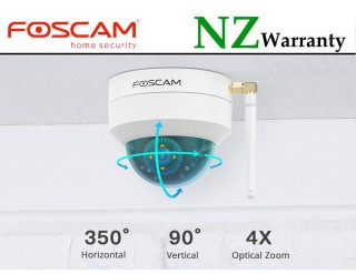 FOSCAM IP CAMERA D4Z 4MP Vandal-Proof Dome Camera Wired/WiFi