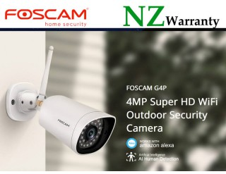 FOSCAM IP CAMERA G4P WiFi 4MP (2K) HUMAN DETECTION