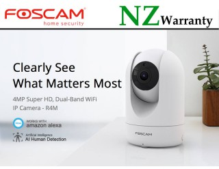 FOSCAM R4M 2.4/5Ghz Wifi 4MP PTZ IP Camera HUMAN DETECTION