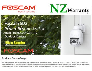 FOSCAM IP CAMERA SD2 Outdoor PTZ 4x Zoom 2.0MP