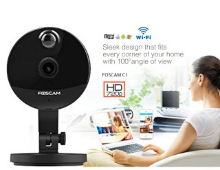 IP CAMERA FOSCAM C1 HD 720P WiFi Plug n Play Black On Promotion