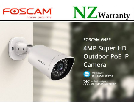 Foscam G4EP 4MP IP66 PoE NETWOK IP CAMERA HUMAN DETECTION