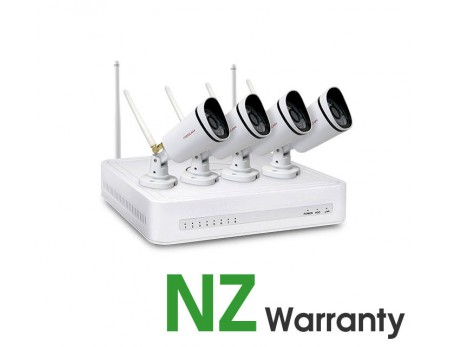 Foscam Security Camera WiFi Package 4CH NVR + 4 Cameras 720P FN3104W